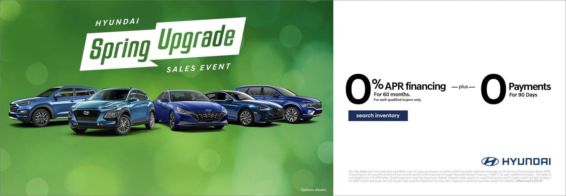 Hyundai Spring Upgrade 0% APR