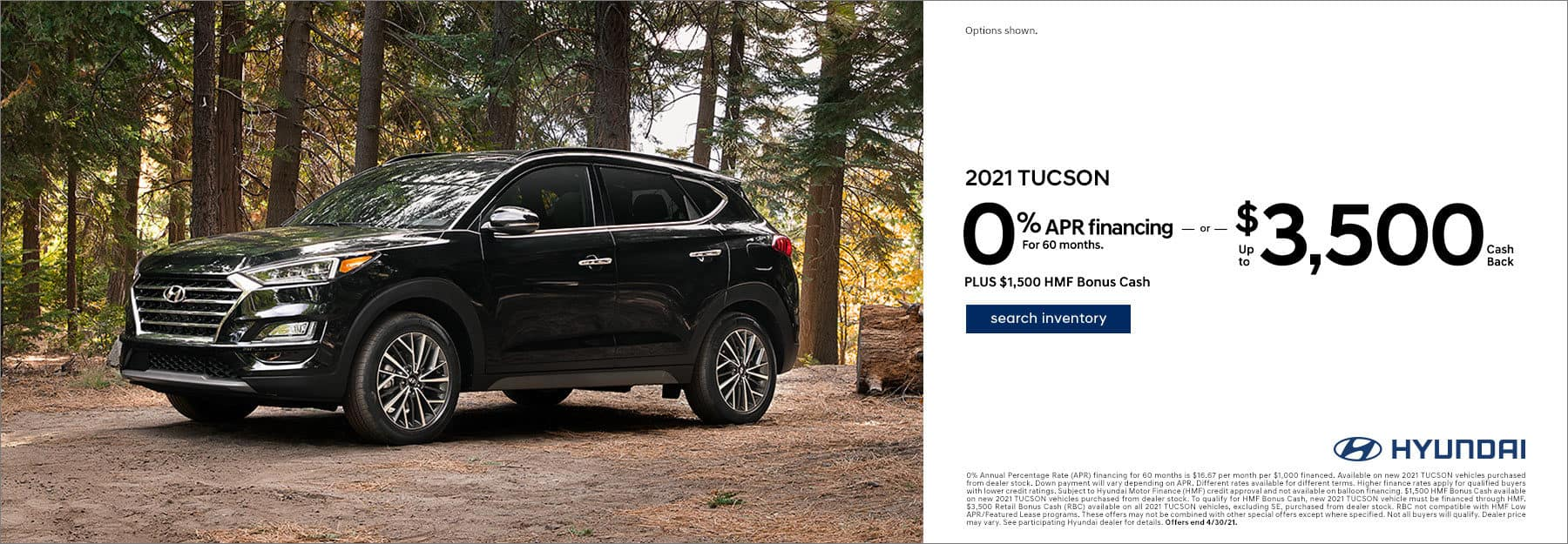 2021 Tucson 0% APR for 60
