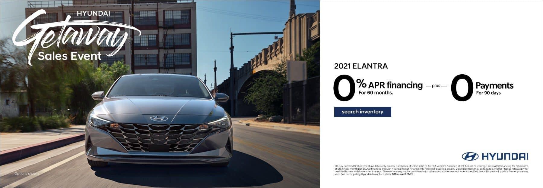 2021 Hyundai Elantra 0% 60mo
