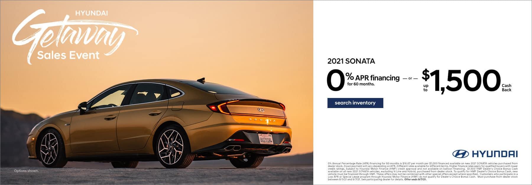 2021 Hyundai Sonata 0% 60mo