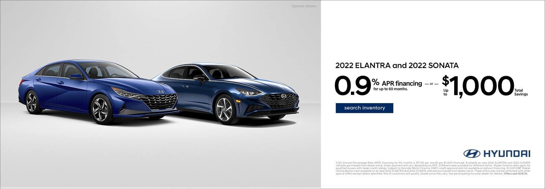 2022 Elantra & Sonata APR offer