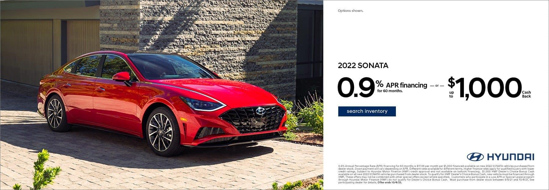 2022 Hyundai Sonata APR offer