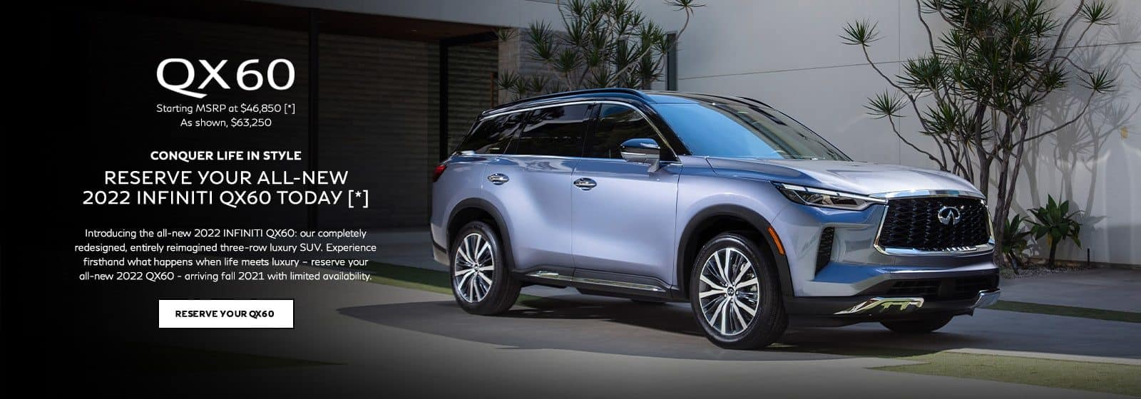 Reserve Your All-New 2022 INFINITI QX60 today