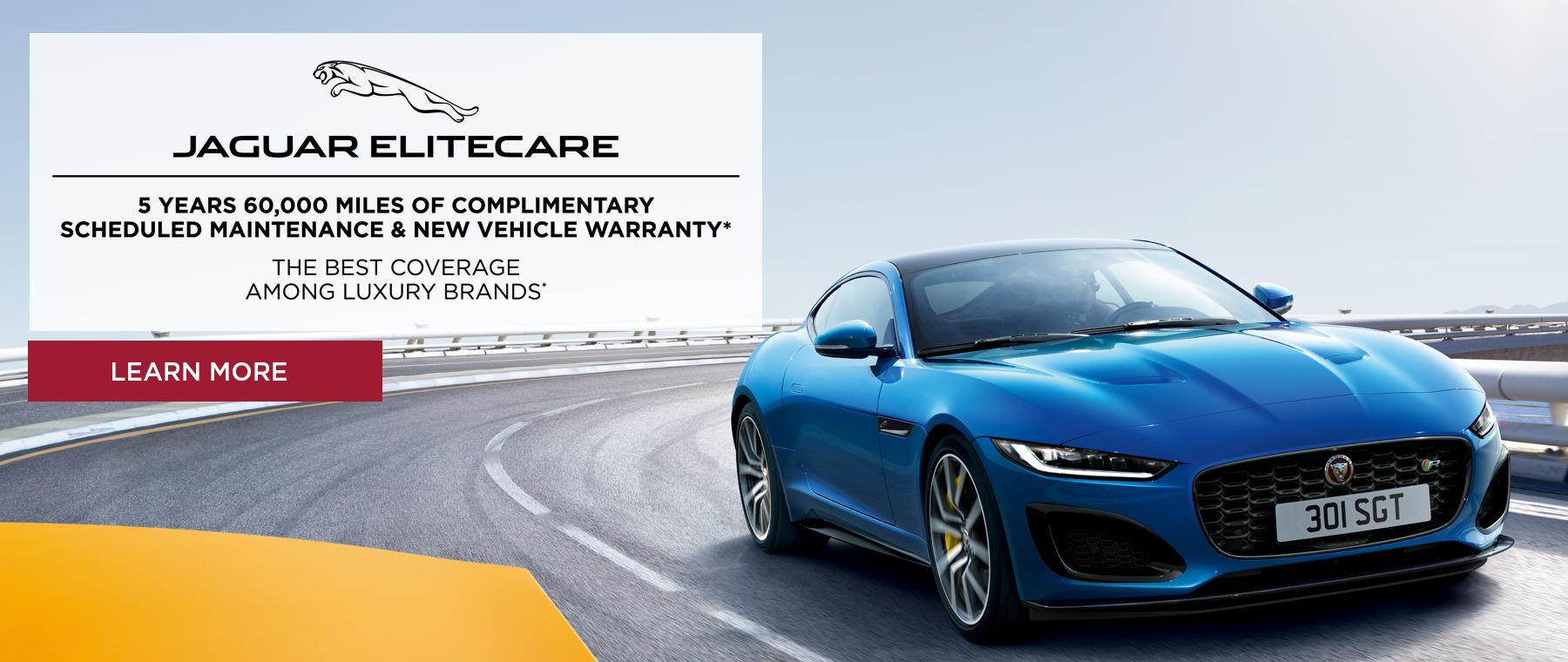 Jaguar Elitecare Advantage. Best coverage among luxury brands. Click to learn more.