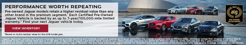 Jaguar Performance Worth Repeating ALG Award
