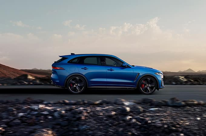 Blue F-PACE SVR Special Vehicle Operations