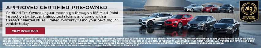 Jaguar CPO vehicles