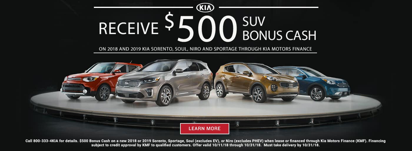 October SUV Bonus Cash_1400x514 · October_Sorento_Customer_Cash__1400x514