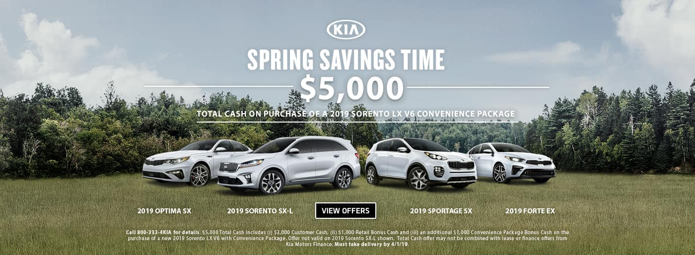 Spring Savings Time Sorento Total Cash 201907