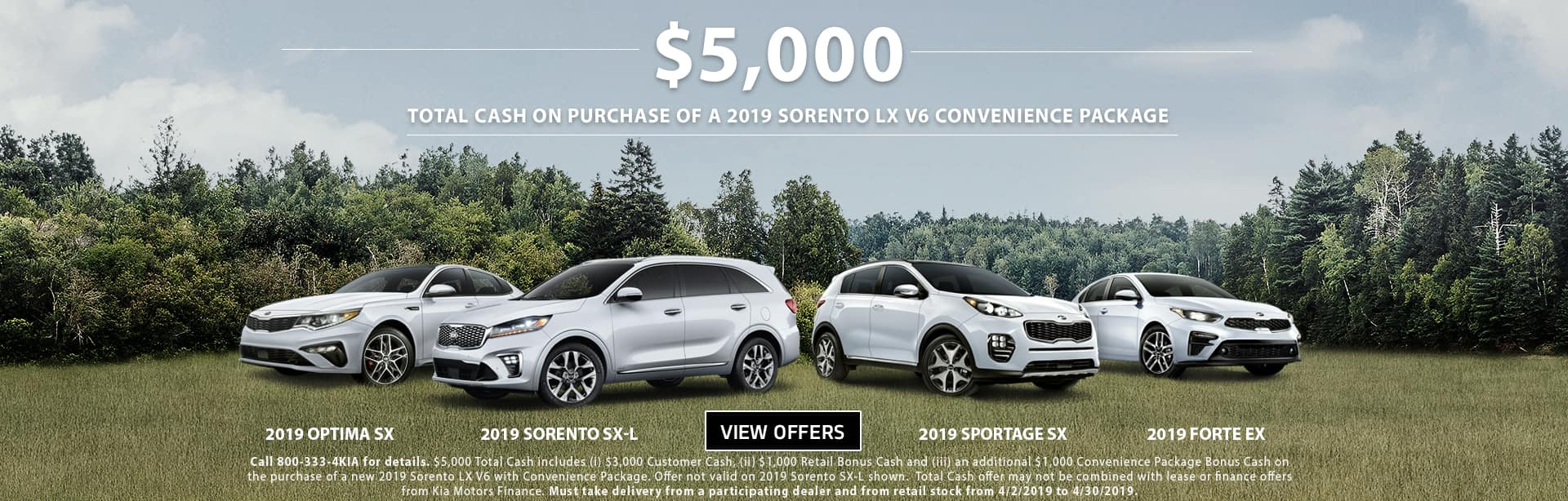 April Sorento Total Cash 201910