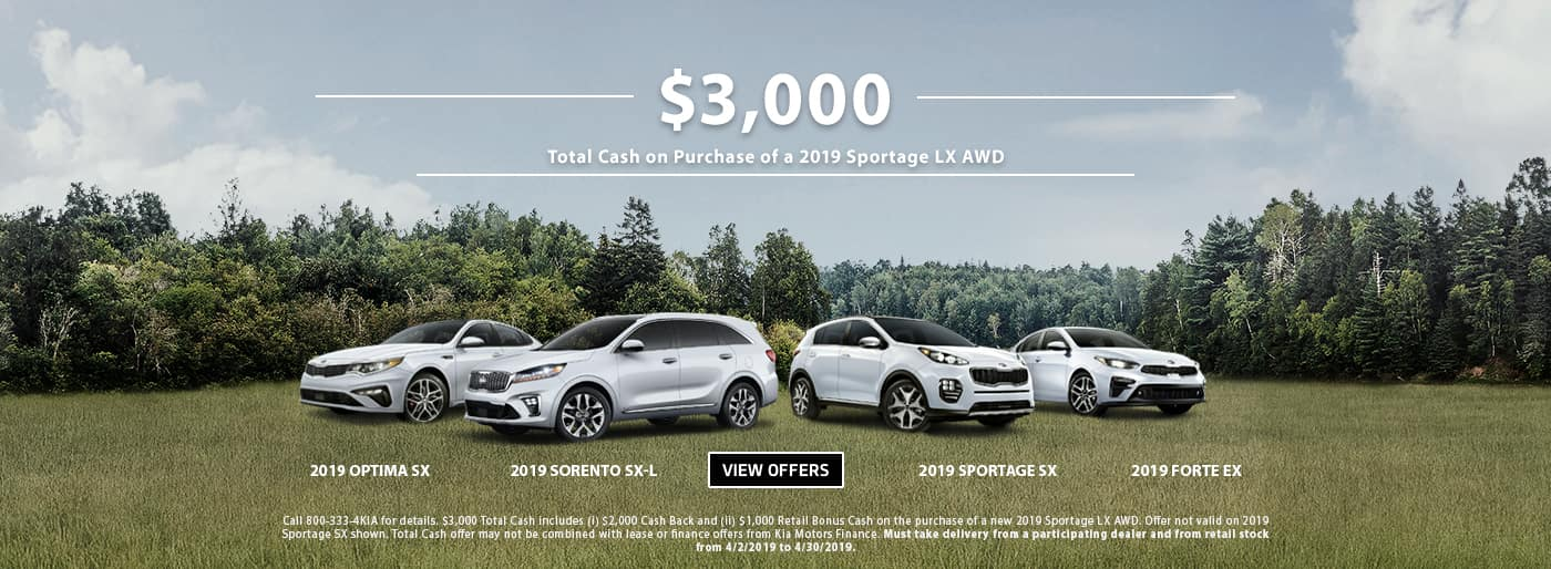 April Sportage Total Cash 201912