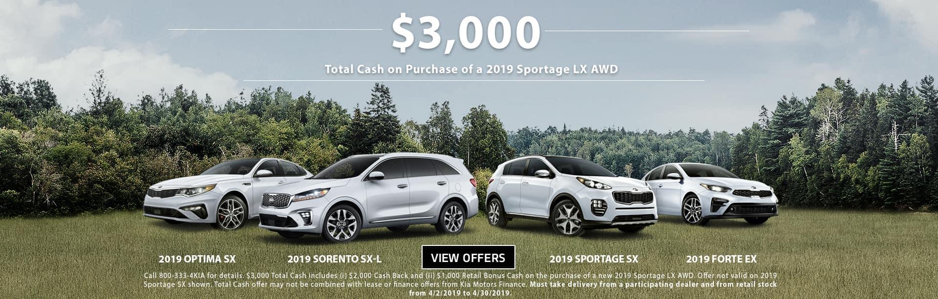 April Sportage Total Cash 201912