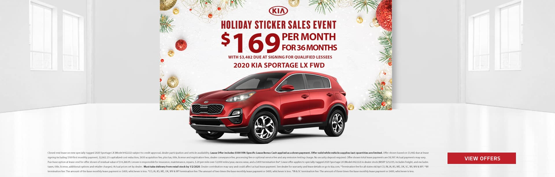 Holiday Sticker Sportage Lease 201924