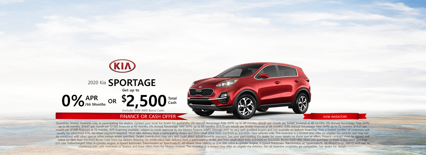 Kia Sportage Central Cash and Finance 202015