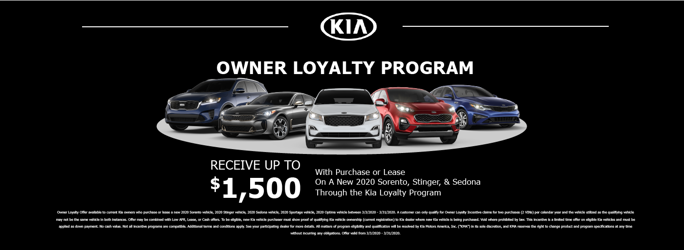 Kia Loyalty Program March 202023