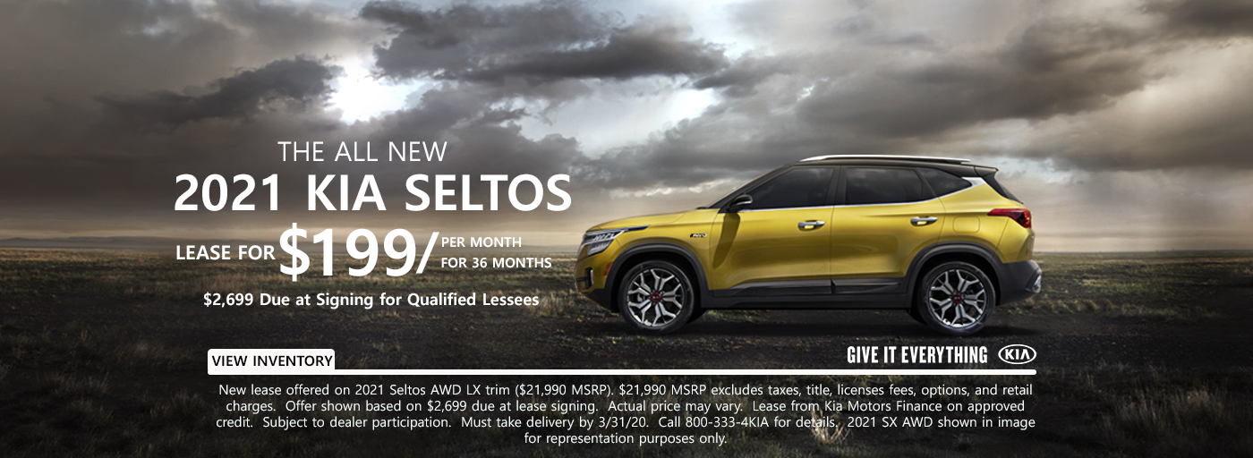 Kia Seltos March Asset Lease 202021