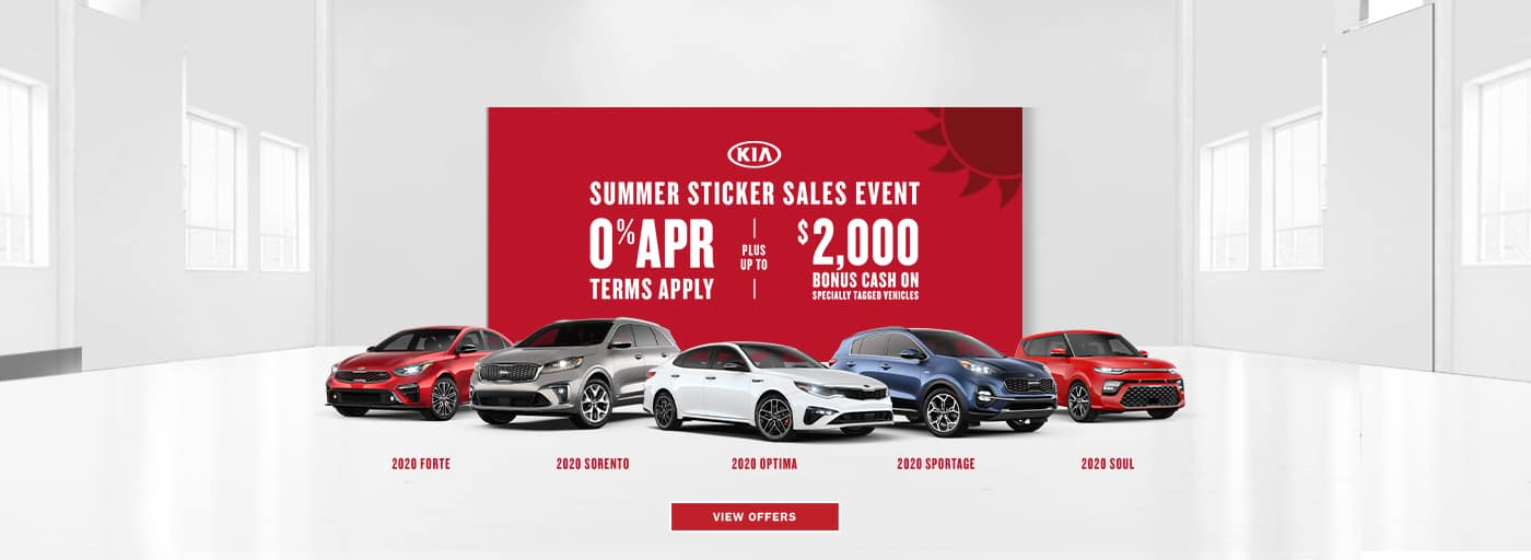 Kia Summer Sticker Sales Event Offer