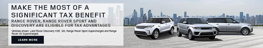 Land Rover Tax Advantage Banner