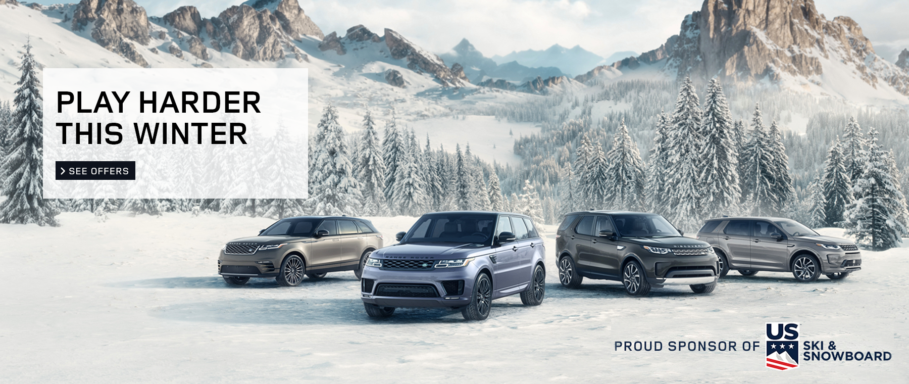 Land Rover 2020 play harder this winter winter campaign