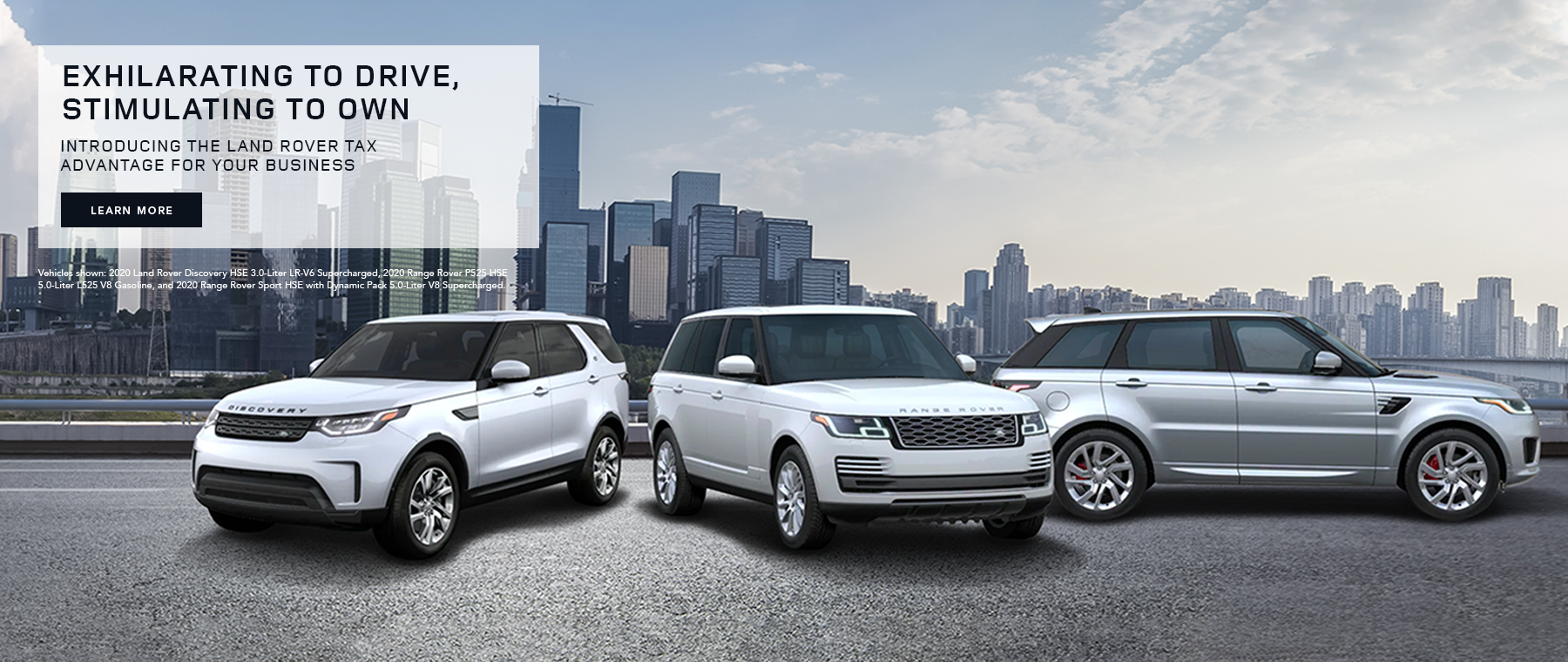 2020 Land Rover Tax Advantage