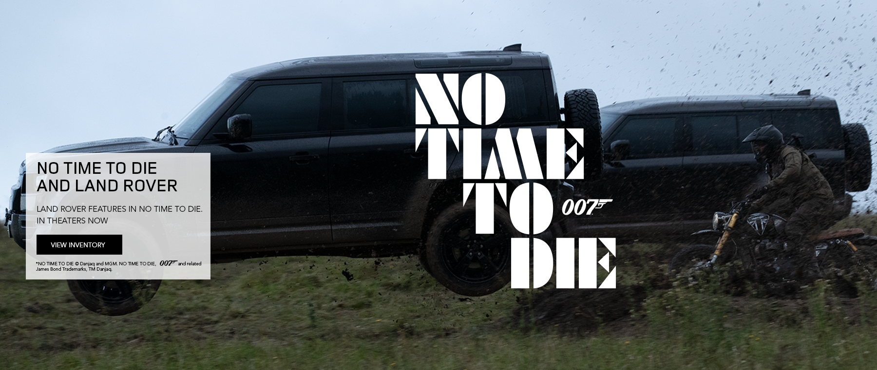 NO TIME TO DIE © Danjaq and MGM. NO TIME TO DIE, and related James Bond Trademarks, TM Danjaq