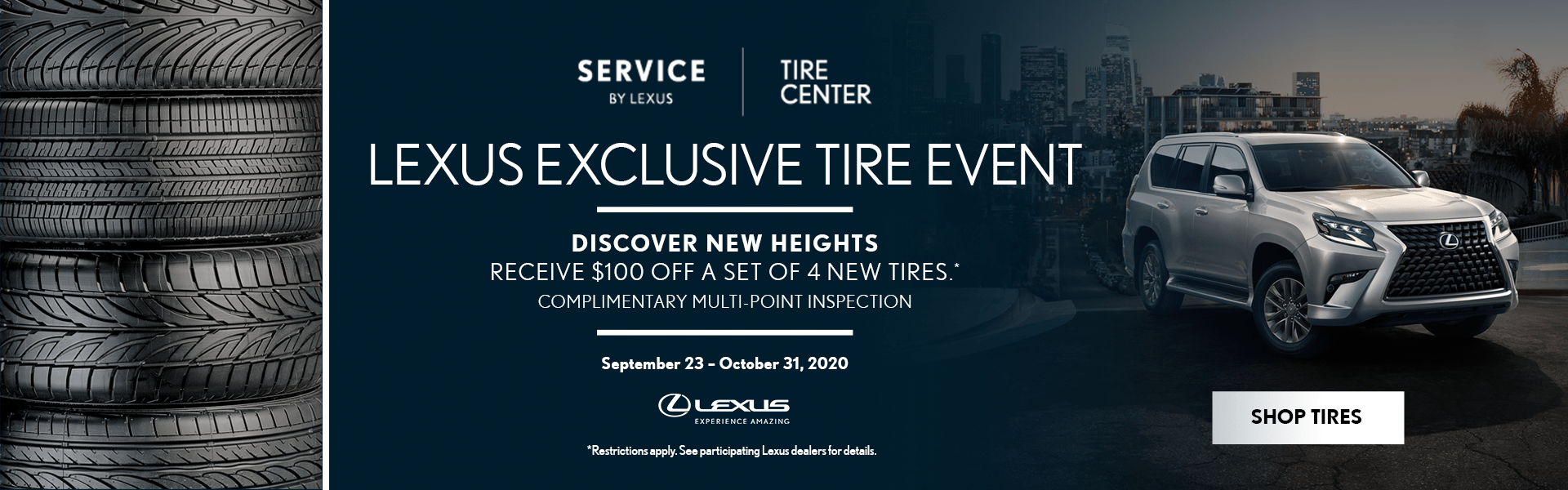 October Tire Event - Hompepage Banner