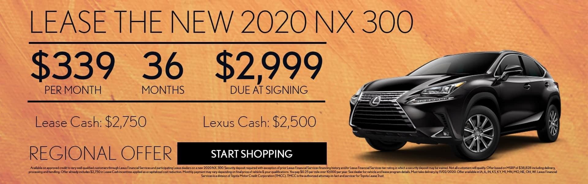 2020 Lexus NX 300 Lease Offer