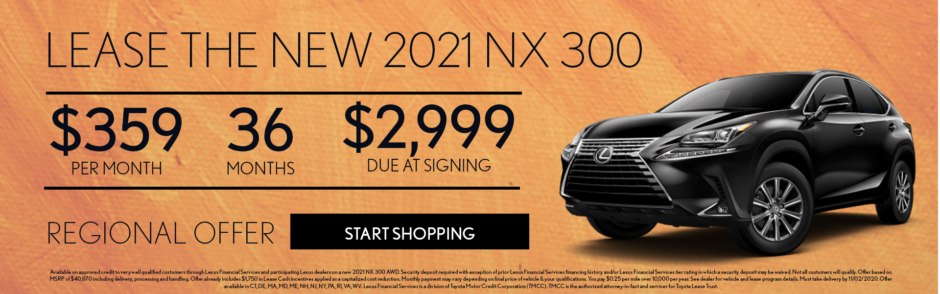 2021 Lexus NX Lease Offer
