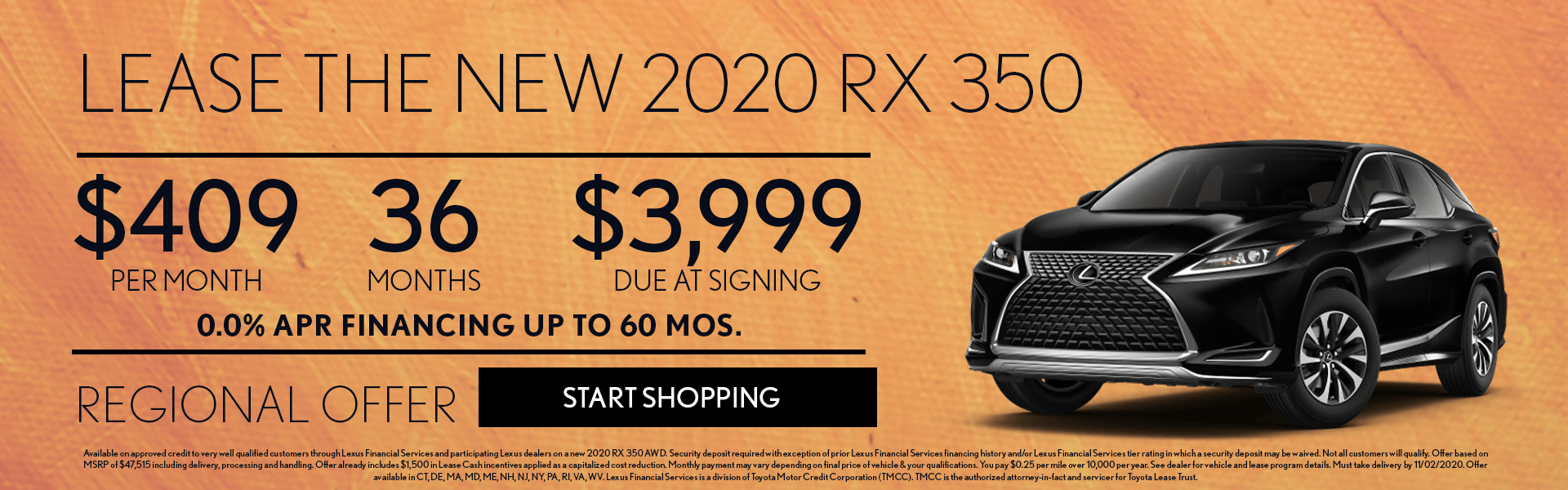 2020 Lexus RX 350 Lease Offer