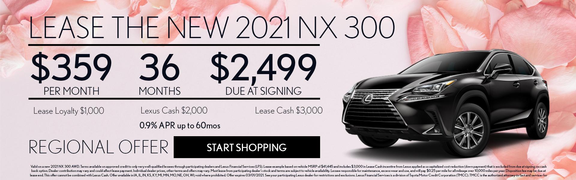 $359 2021 Lexus NX