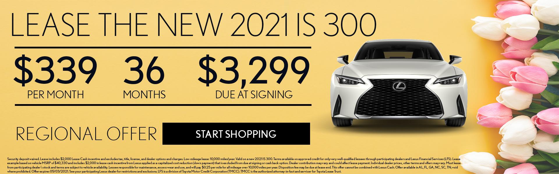 2021 IS 300 $339