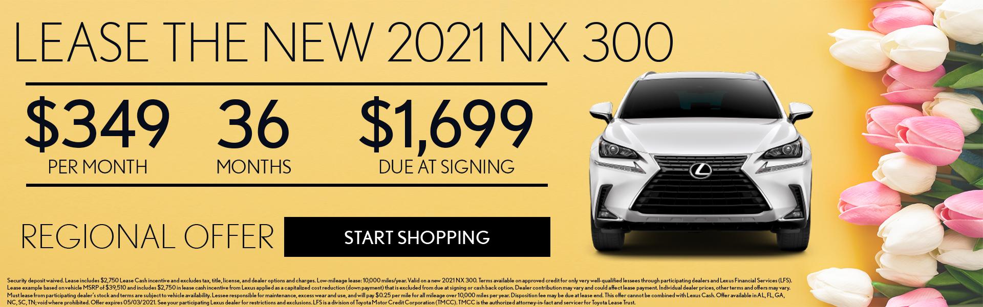2021 NX 300 $349