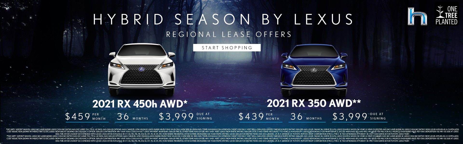 2021 RX 450h AWD $459