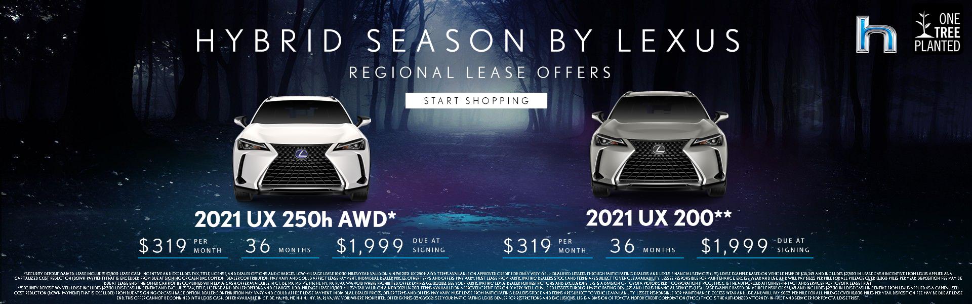 2021 UX 250h AWD $319