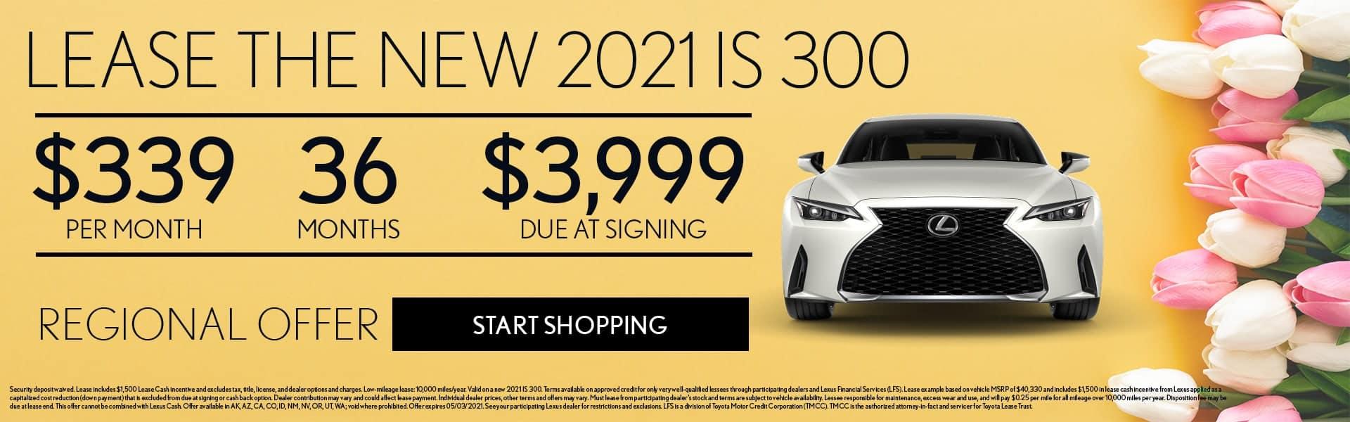 2021 Lexus IS offer