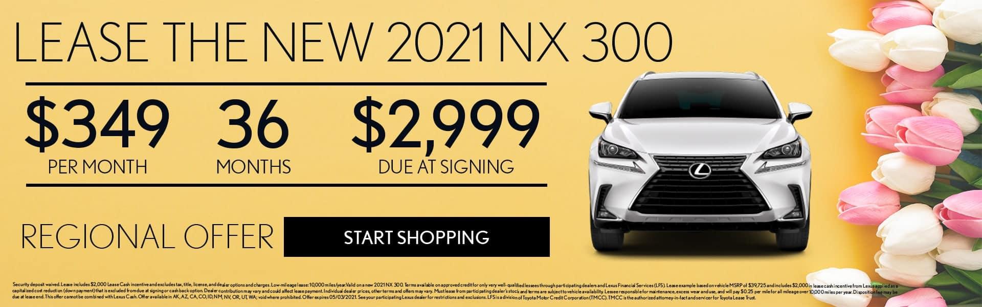 2021 Lexus NX offer
