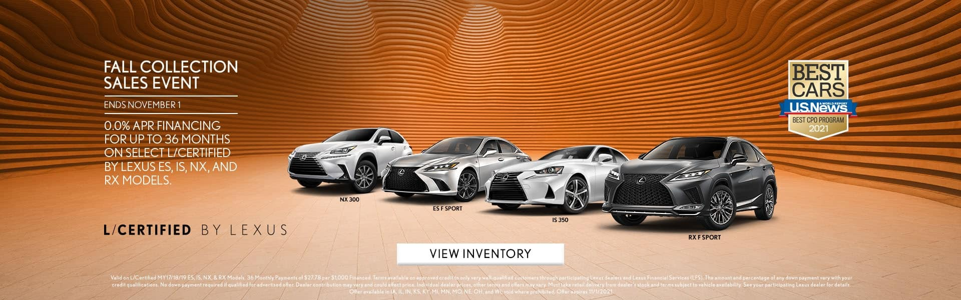 L/Certified Lexus Fall Collection Sales Event
