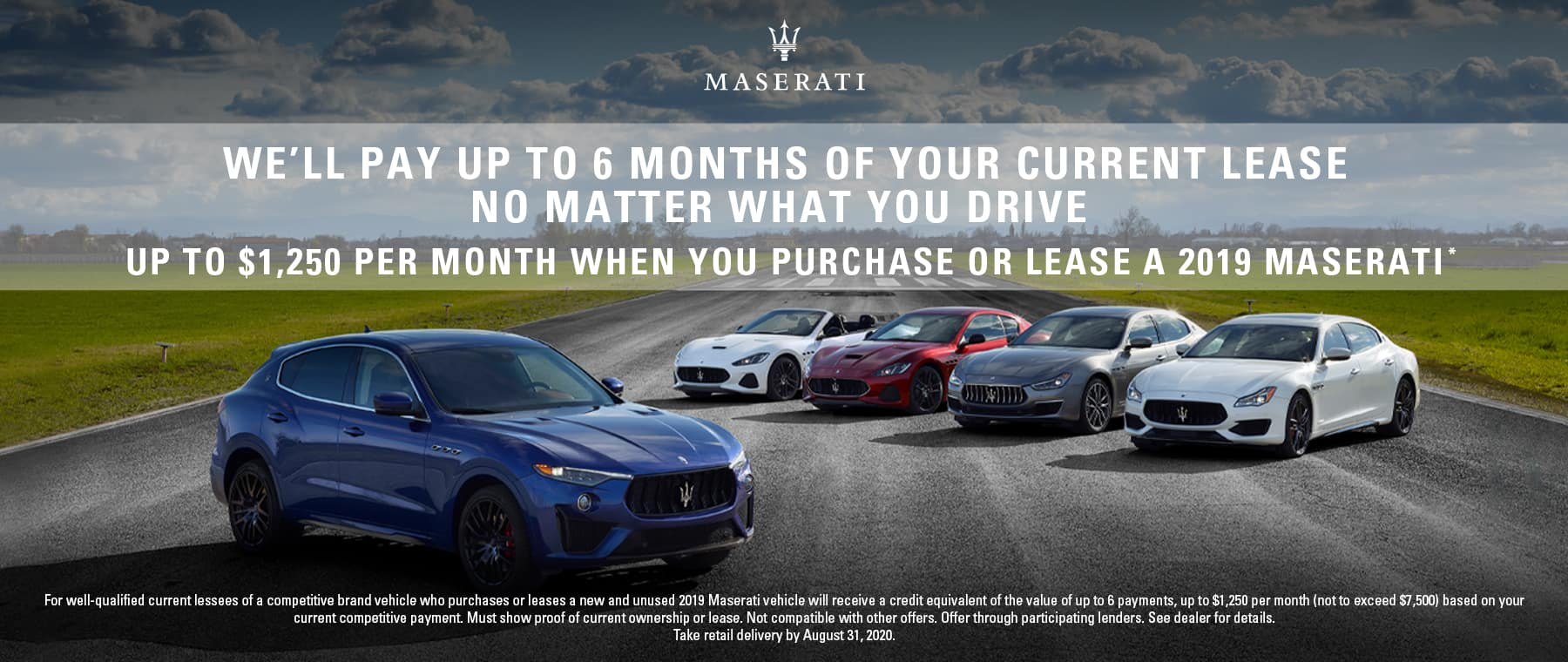 We'll Pay up to 6 months of your current lease