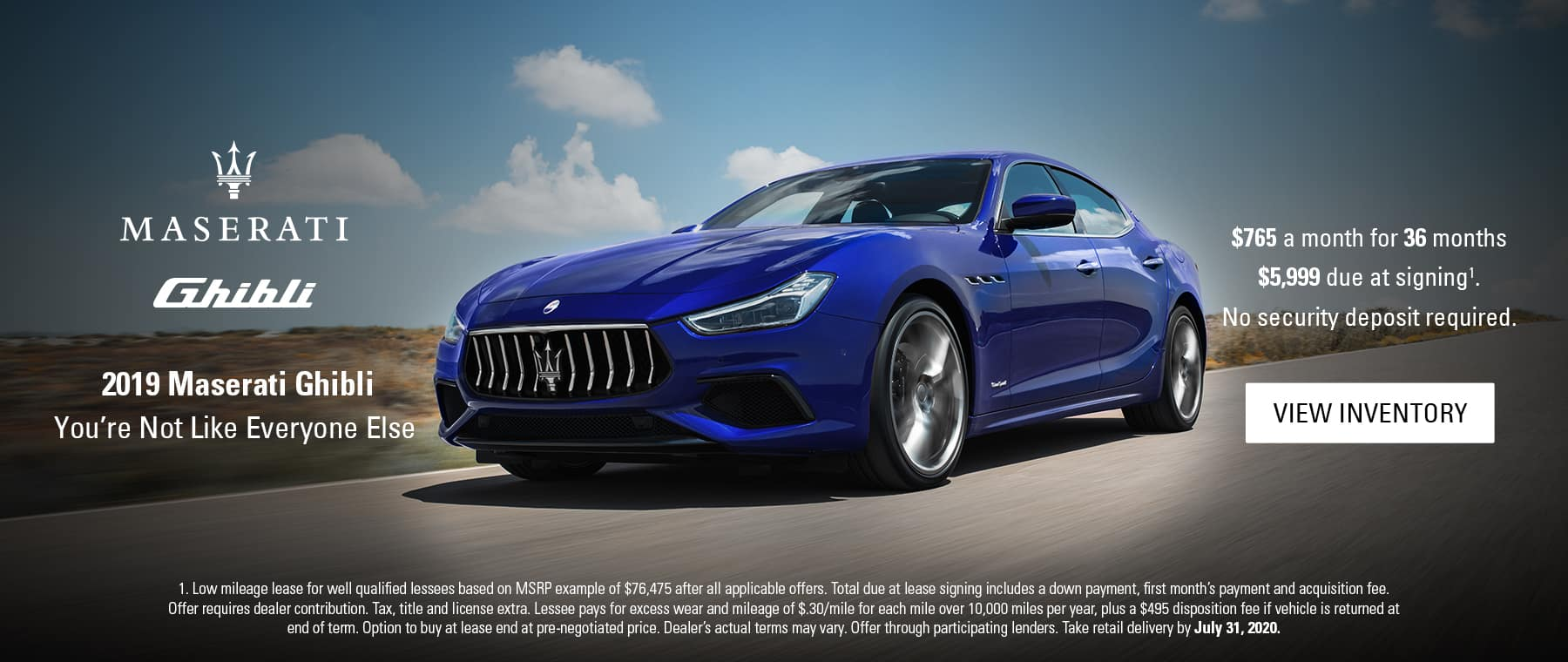 2019 Maserati Ghibli $765