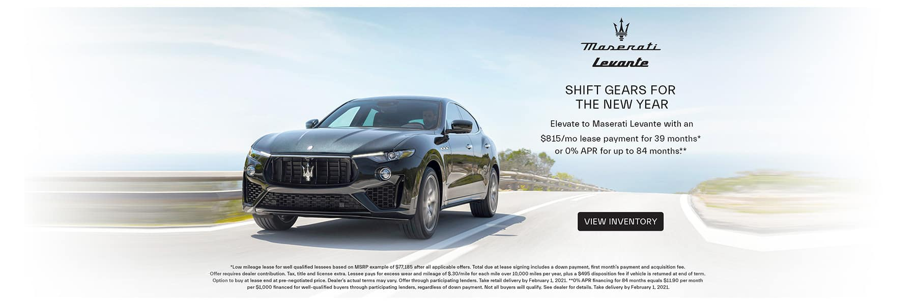 Maserati Levante Lease & Finance offer