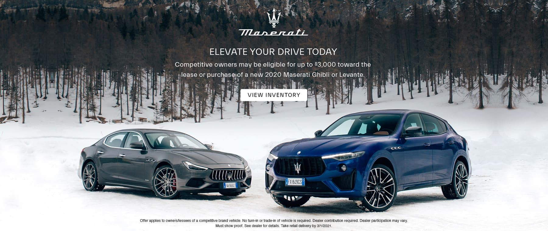 Maserati Ghibli & Levante Elevate offer