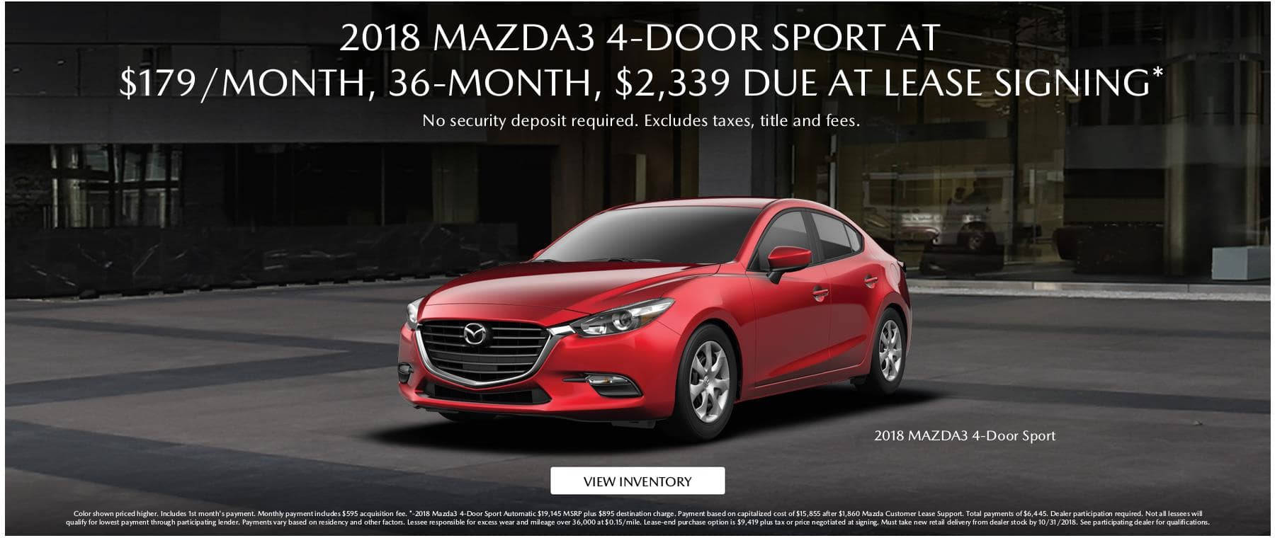 Required- Mazda3 Lease