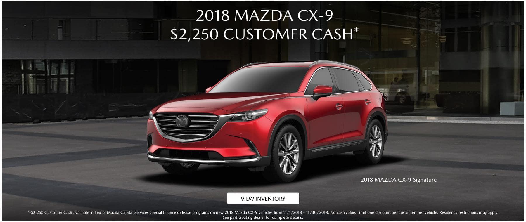 2018 Mazda CX9 2250 CC