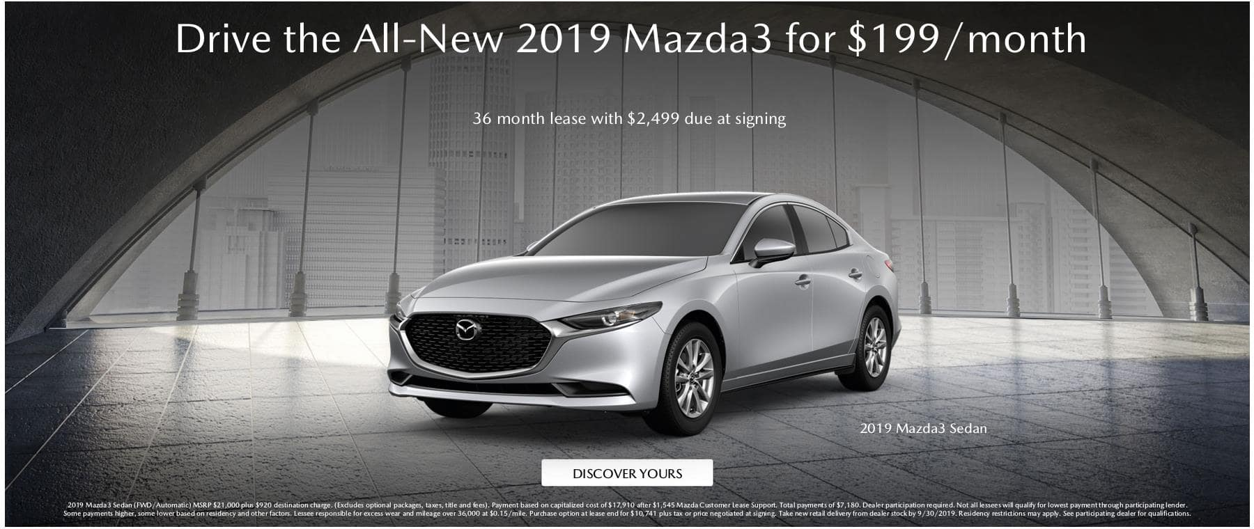 Sept 199 Mazda3 Lease