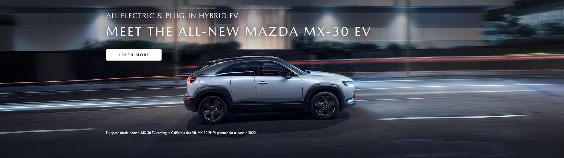 The all-new Mazda MX-30 EV