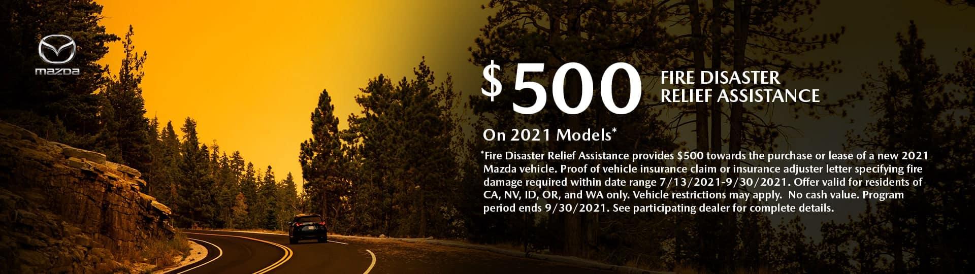 Mazda Fire Disaster Reliefa