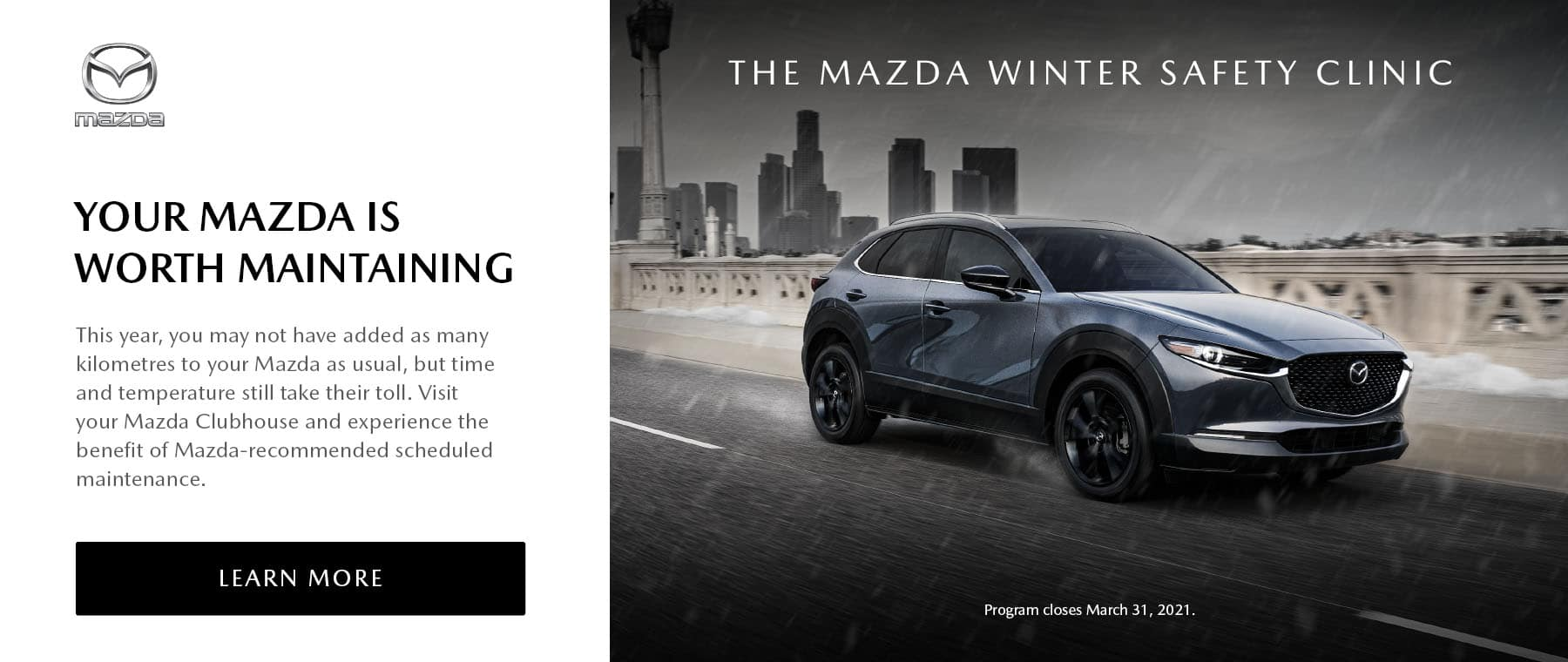 The Mazda Winter Safety Clinic.