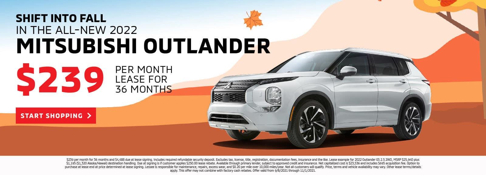 2022 Outlander $239 for 36 months