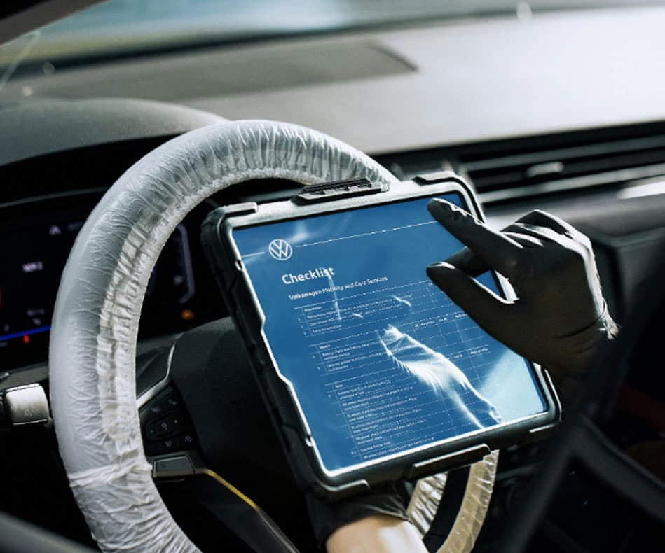 iPad with gloves