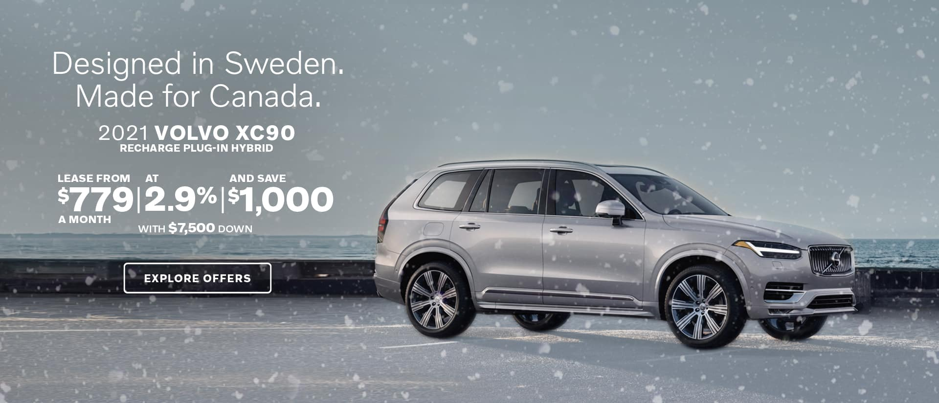XC90 in the snow.